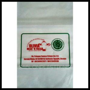 Sablon Plastik PE Yogyakarta pesanan Olivia Meat n' Fresh