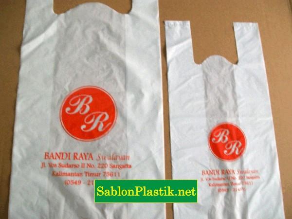 Sablon Plastik Bandi Raya Swalayan Sangata Kaltim