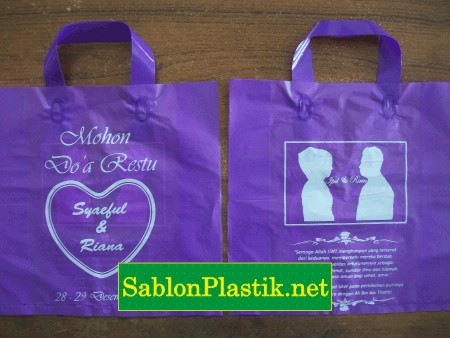 Sablon Plastik Cangklong Bandung pesanan Wedding Ipul & Ririn
