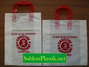 Sablon Plastik Cangklong Manado pesanan Christine Klappertaart