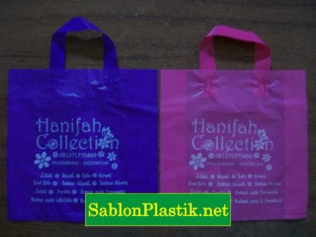 Sablon Plastik Cangklong Palembang pesanan Hanifah Collection