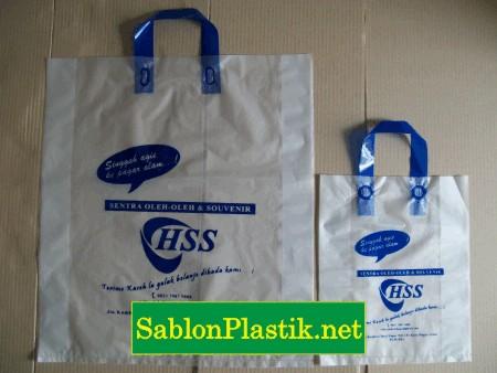Sablon Plastik Cangklong Palembang pesanan Toko Oleh-Oleh HSS