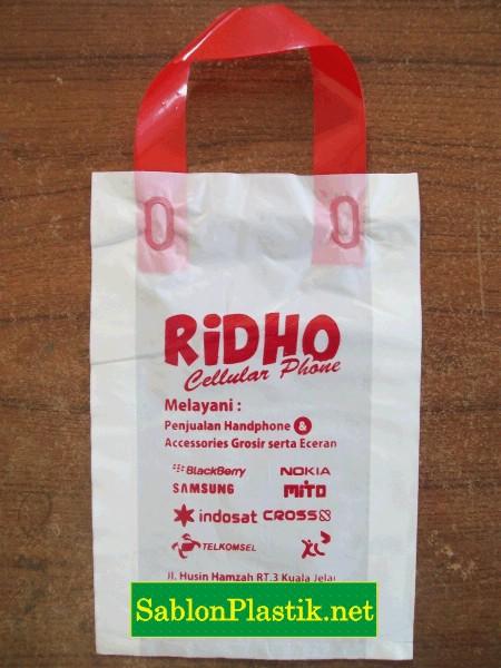 Sablon Plastik Cangklong Pangkalanbun pesanan Ridho Celullar
