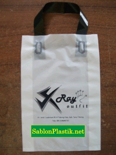 Sablon Plastik Cangklong Tarakan pesanan X-Ray Outfit