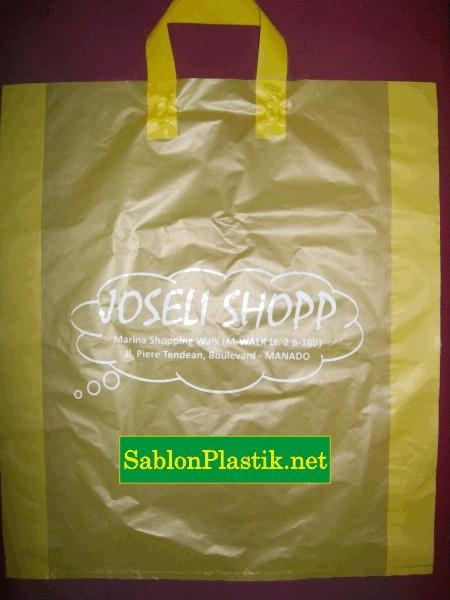 Sablon Plastik Cangkong Manado pesanan Joseli Shopp