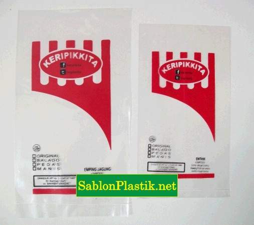 Sablon Plastik Kemasan Keripik Kita pesanan dari Yogyakarta