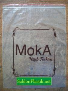 Sablon Plastik Klip Jakarta pesanan Moka Hijab