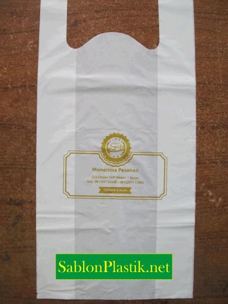Sablon Plastik Kresek Bacan pesanan Aidel Cake