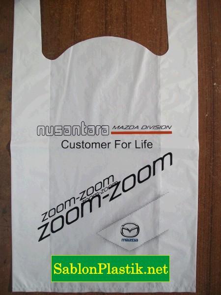 Sablon Plastik Kresek Banjarmasin pesanan Mazda