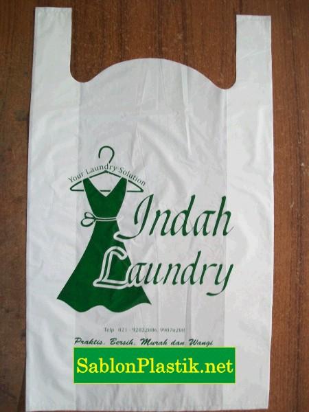 Sablon Plastik Kresek Jakarta pesanan Indah Laundry
