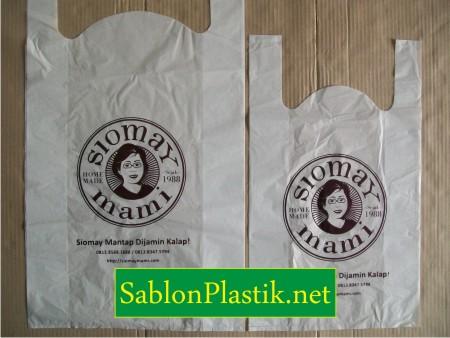 Sablon Plastik Kresek Jakarta pesanan Siomay Mami