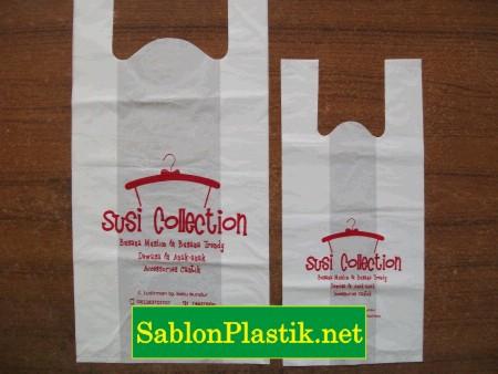 Sablon Plastik Kresek Karimun pesanan Susi Collection
