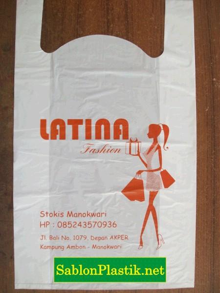 Sablon Plastik Kresek Manokwari pesanan Latina