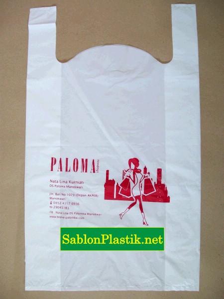 Sablon Plastik Kresek Paloma Shopway di Manokwari Papua