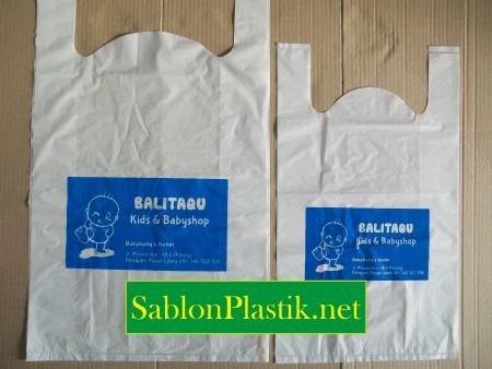 Sablon Plastik Kresek Paser pesanan Balitaqu