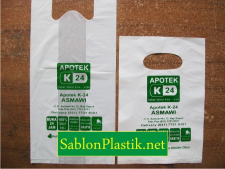 Sablon Plastik Kresek & Plong Depok pesanan Apotek K24 Asmawi