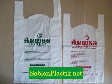 Sablon Plastik Kresek Tangerang pesanan Annisa Laundry