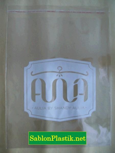 Sablon Plastik OPP Jakarta pesanan Shandy Aulia Collections