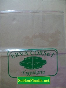 Sablon Plastik OPP Yogyakarta pesanan Erva Corset
