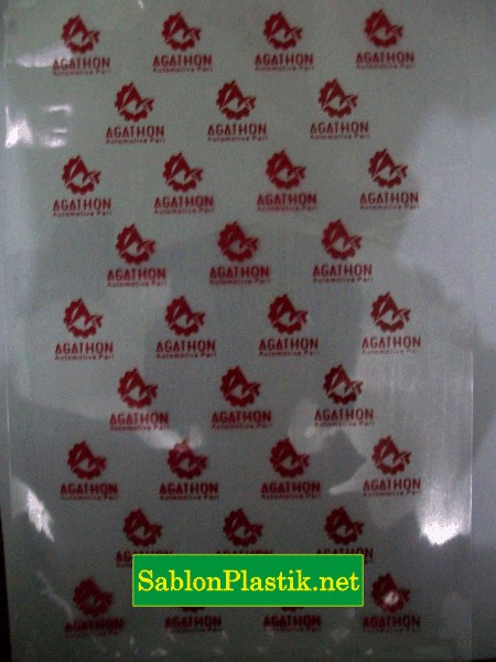 Sablon Plastik PP Agathon Yogyakarta