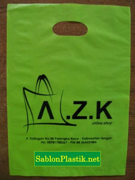 Sablon Plastik Palangkaraya pesanan Online Shop AZK