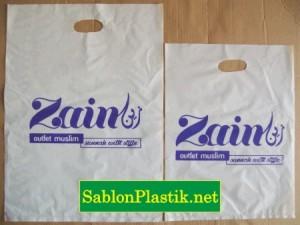 Sablon Plastik Plong Balikpapan pesanan Toko Zain