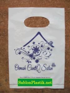 Sablon Plastik Plong Bandar Lampung pesanan Oemah CantiQ Salon