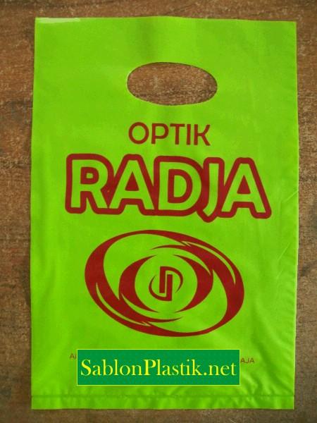 Sablon Plastik Plong Batu Raja pesanan Optik Radja