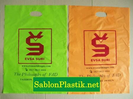 Sablon Plastik Plong Bengkulu pesanan Evsa Suri