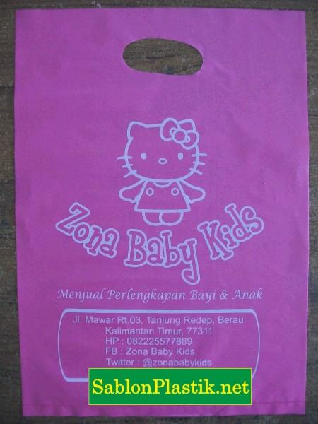 Sablon Plastik Plong Berau pesanan Zona Baby Kids