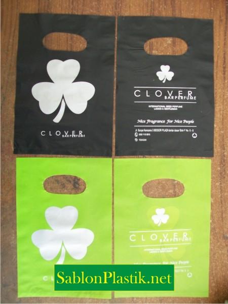 Sablon Plastik Plong Bogor pesanan Clover
