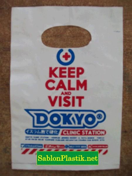 Sablon Plastik Plong Bogor pesanan Dokyo Clinic Station