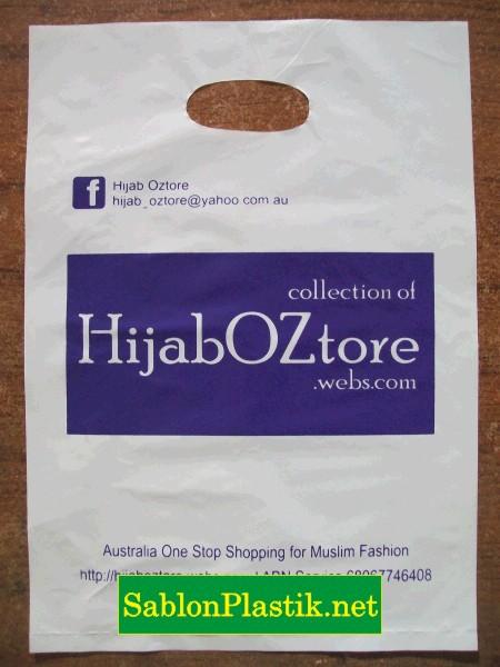 Sablon Plastik Plong Bogor pesanan Hijab Oztore