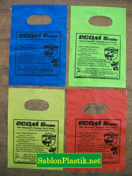 Sablon Plastik Plong Bondowoso pesanan Ecom Studio
