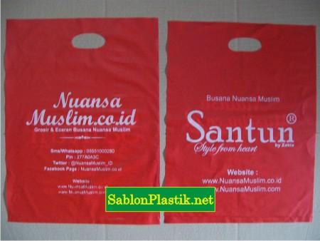 Sablon Plastik Plong Cepu Pesanan Nuansa Muslim