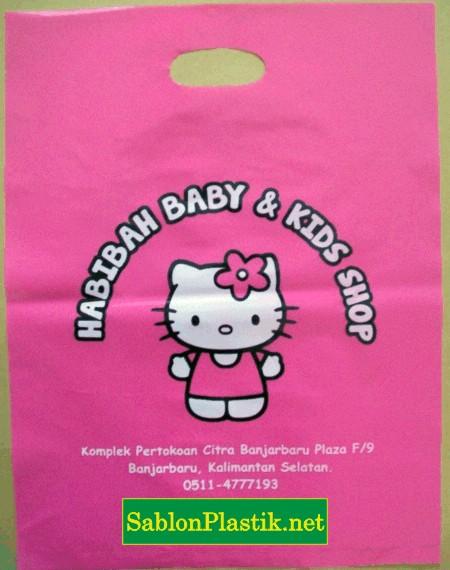 Sablon Plastik Plong Habibah Baby & Kids Shop di Banjarbaru