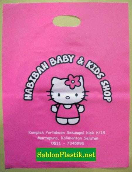 Sablon Plastik Plong Habibah Baby & Kids Shop di Martapura