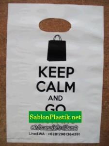 Sablon Plastik Plong Jakarta pesanan Amanda's Closet