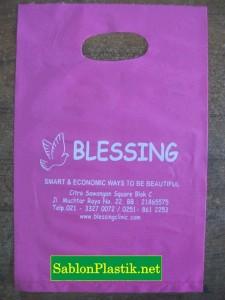 Sablon Plastik Plong Jakarta pesanan Blessing