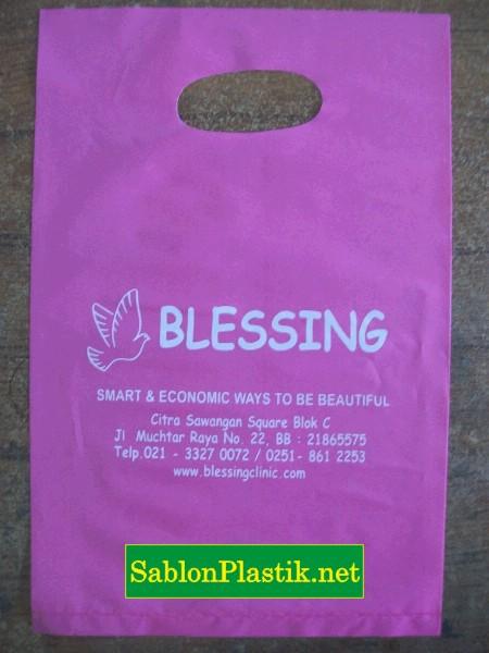 Sablon Plastik Plong Jakarta pesanan Blessing Skin Care