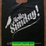 Sablon Plastik Plong Jakarta pesanan Hello Sunday