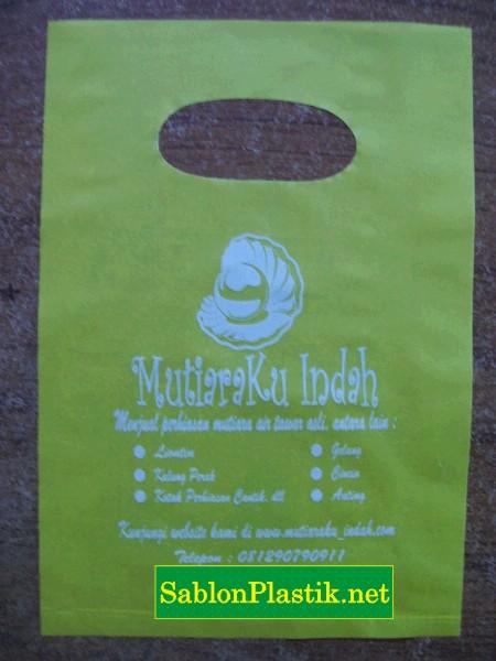 Sablon Plastik  Plong Jakarta pesanan Mutiaraku Indah