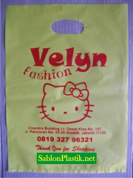 Sablon Plastik Plong Jakarta pesanan Velyn