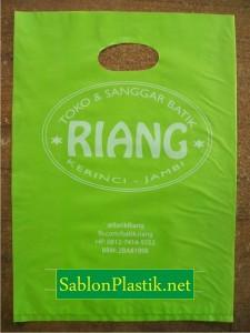 Sablon Plastik Plong Jambi pesanan Toko & Sanggar Batik Riang