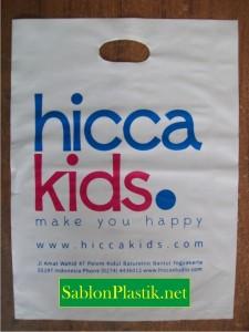 Sablon Plastik Plong Jogja pesanan Hicca Kids