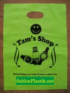 Sablon Plastik Plong Jogja pesanan Tam's Shop