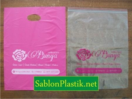 Sablon Plastik Plong & Klip Karawang pesanan Bunga Collection