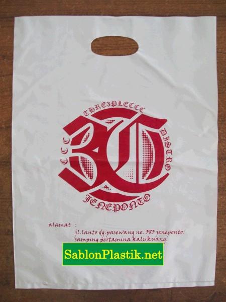 Sablon Plastik Plong Makassar pesanan 3C Distro
