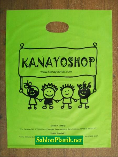 Sablon Plastik Plong Palangkaraya pesanan Kanayoshop