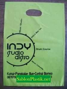 Sablon Plastik Plong Pangkalan Bun pesanan Indy Studio Distro